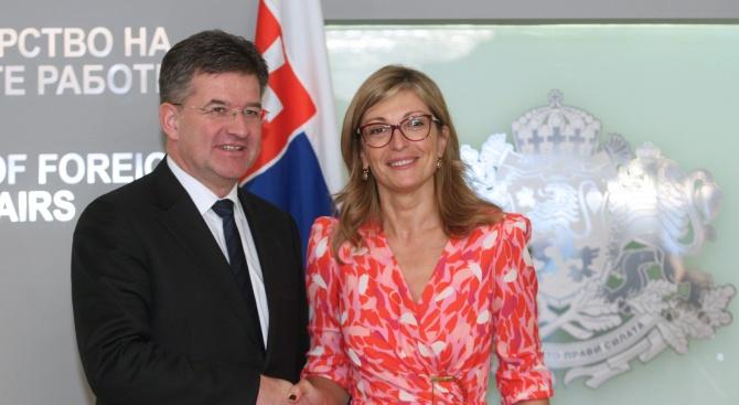 Екатерина Захариева: И България, и Словакия са едни от най-силните поддръжници на разширяването на ЕС