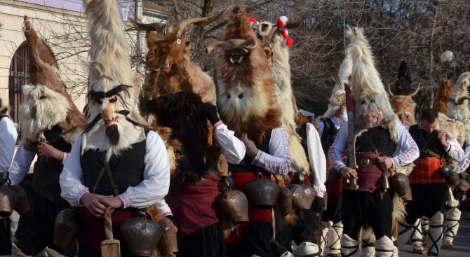 Кукери гониха злите сили в Бургас