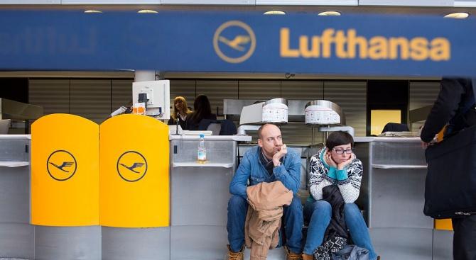 """Двудневна стачка в """"Луфтханза"""" ще засегне всички полети на компанията"""