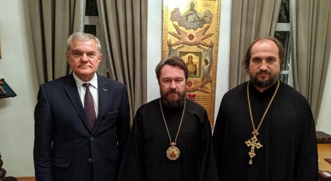 Румен Петков се срещна в Москва с един от най-високопоставените митрополити на Руската православна църква