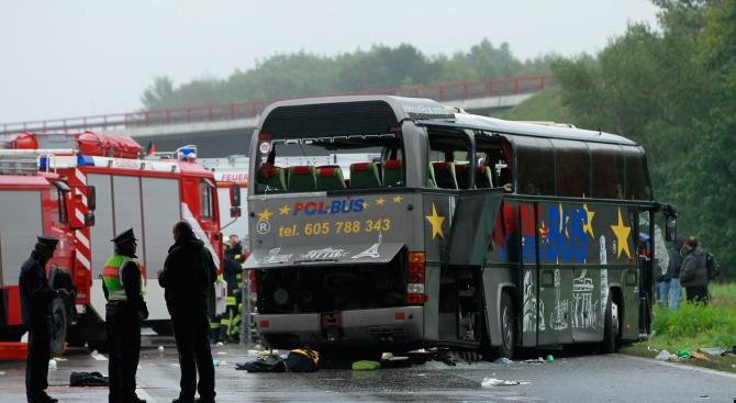 Автобус и камион се удариха  в Словакия. Над 10 жертви