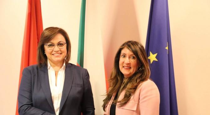 Корнелия Нинова се срещна с посланика на САЩ Херо Мустафа