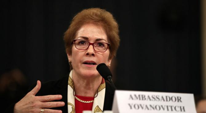 Бившата посланичка на САЩ в Украйна бе изслушана в Конгреса по разследването за импийчмънт срещу Тръмп