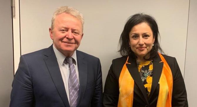 Министър Танева се срещна с бъдещия европейски комисар по земеделие и развитие на селските райони Януш Войчеховски