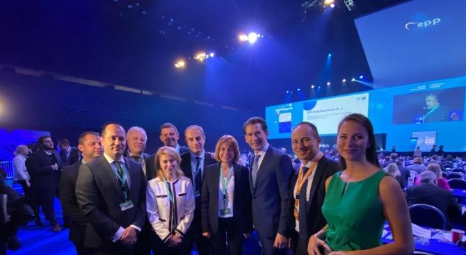 Българската делегация от ГЕРБ на Конгреса на ЕНП в Загреб се срещна със Себастиан Курц