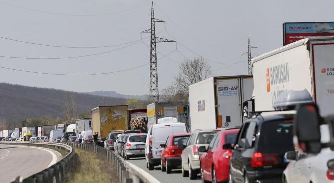 """""""Гранична полиция"""": Трафикът на изход за товарни автомобили е силно интензивен на ГКПП """"Капитан Андреево"""" и ГКПП """"Лесово"""""""