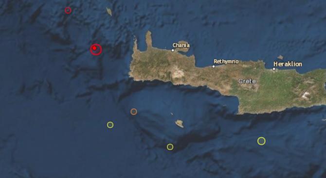 Силно земетресение разтърси гръцкия остров Крит