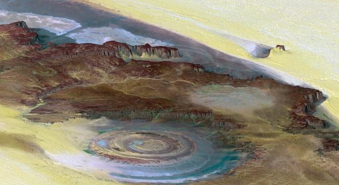 Откриха микроскопични вкаменелости в паднал метеорит в алжирската пустиня