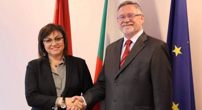Корнелия Нинова се срещна с полския посланик