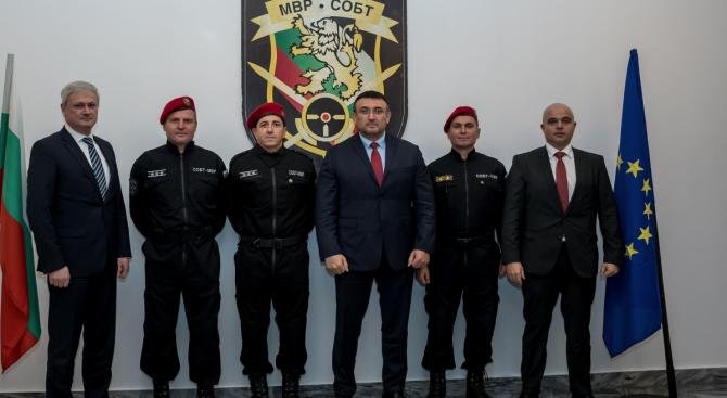 Младен Маринов към служителите от СОБТ: Доказахте, че сте готови и можете да отстоявате интересите на българската държава