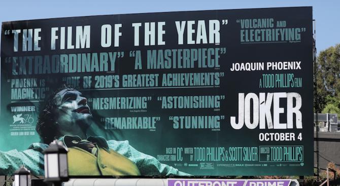 """""""Жокера"""" стана филмът на годината на търсачката Ай Ем Ди Би"""