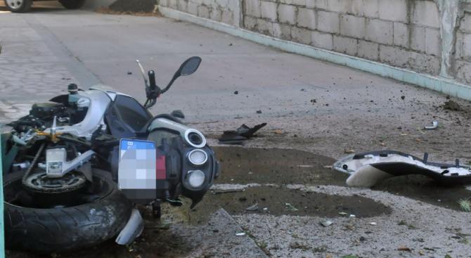 Катастрофа в Трявна между кола и мотоциклет