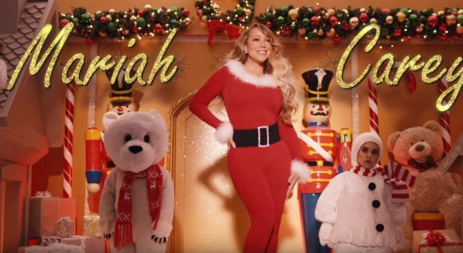 """Марая Кери с нов клип на коледния хит """"All I Want for Christmas is You"""""""