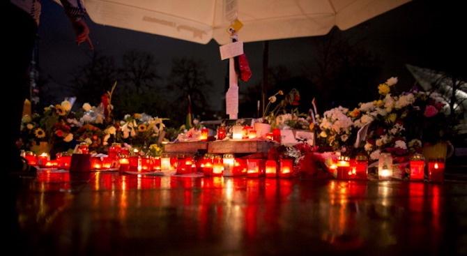 Молебен в памет на загиналия в Солун българския футболен фен