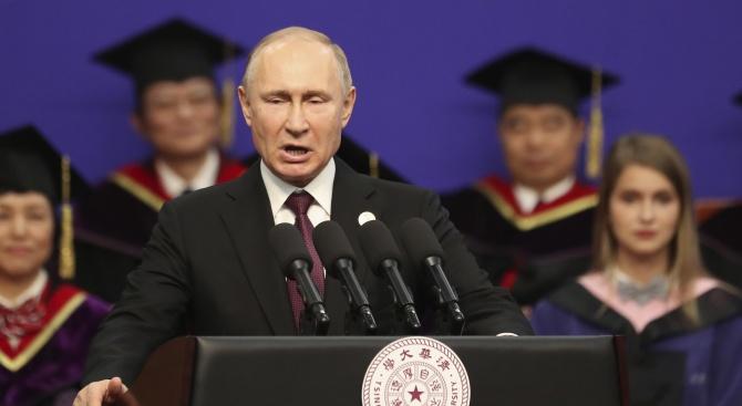 Владимир Путин към съгражданите си: Бъдете здрави!