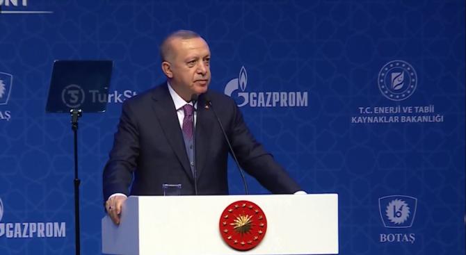 """Ердоган: """"Турски поток"""" е исторически проект"""