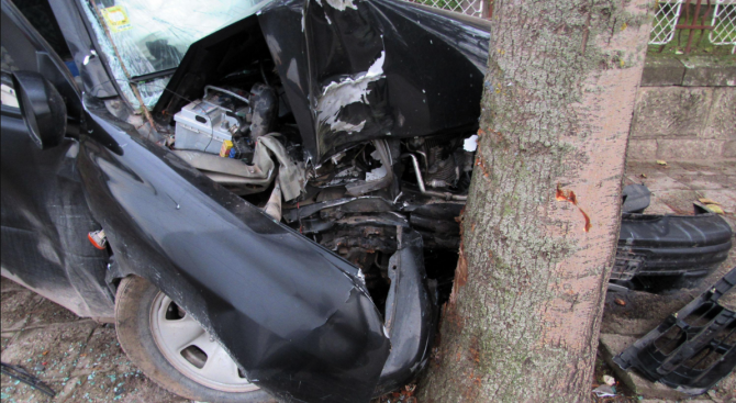 75-годишен пиян американец се заби с колата си в дърво край Павликени