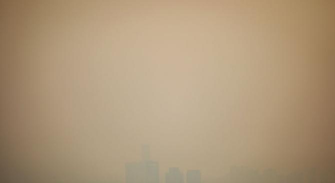 Силно замърсяване на въздуха е регистрирано днес следобед в Белград