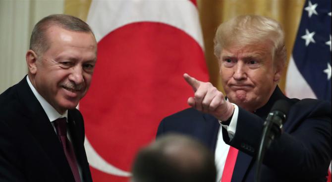 Ердоган и Тръмп обсъдиха по телефона ситуацията в Близкия изток