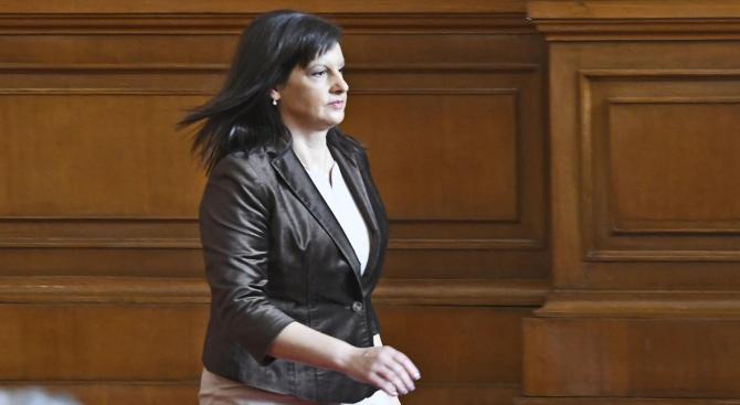 Даниела Дариткова: Няма да има резултат от вота на недоверие на БСП