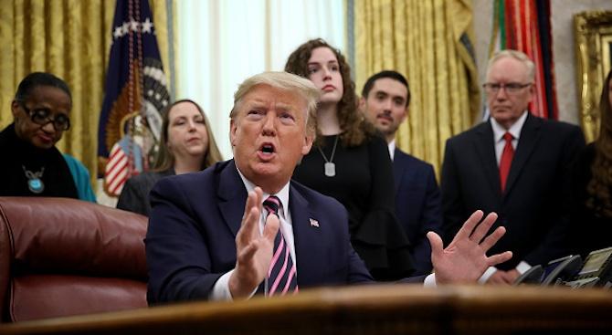 Доналд Тръмп: Обвиненията за импийчмънт са оскърбление към конституцията