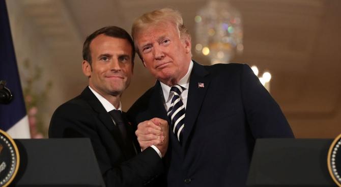 Макрон и Тръмп обявиха временно примирие в спора си за дигиталния данък