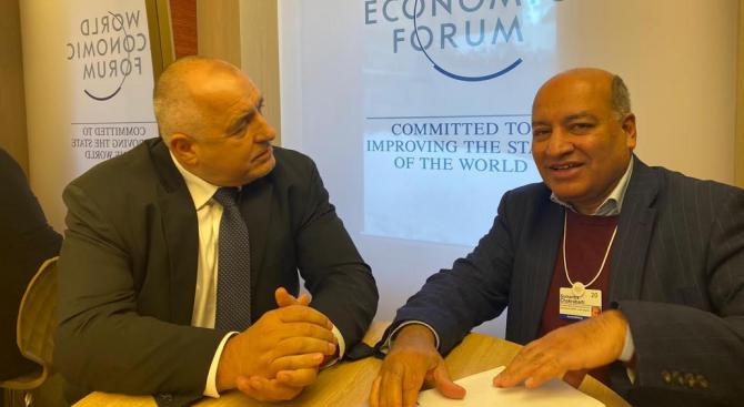 Борисов разговаря с председателя на ЕБВР в Давос