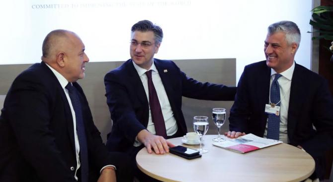 Борисов към Пленкович и Тачи: Трябва да покажем, че на Балканите сме пораснали