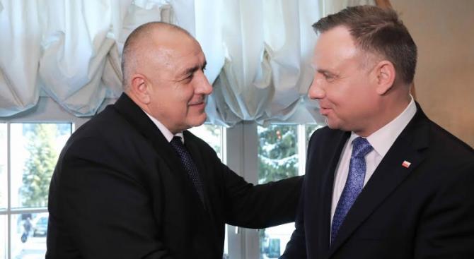Борисов разговаря с президента на Полша Анджей Дуда в Давос