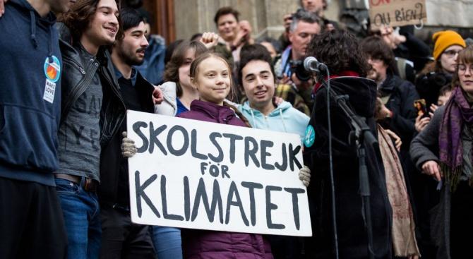 Тийнейджърите от Давос протестираха заедно с Грета Тунберг