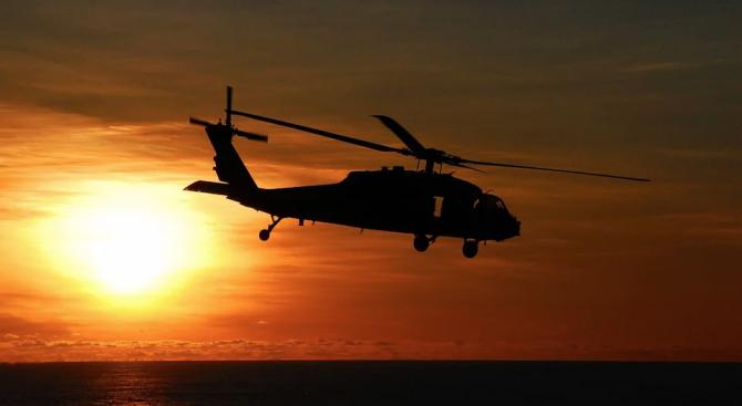 Хърватски военен хеликоптер е паднал в Адриатическо море