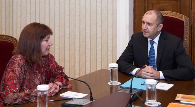 Румен Радев се срещна с главния инспектор в ИВСС Теодора Точкова