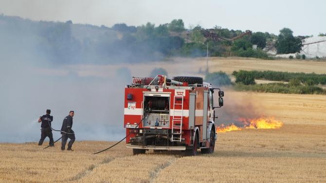 Евакуират хора заради пожара в Тополовградско и Свиленградско
