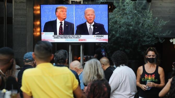 Тръмп и Байдън влязоха в задочен телевизионен дуел