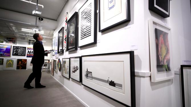 Творба на Банкси беше продадена на търг за 170 000 евро