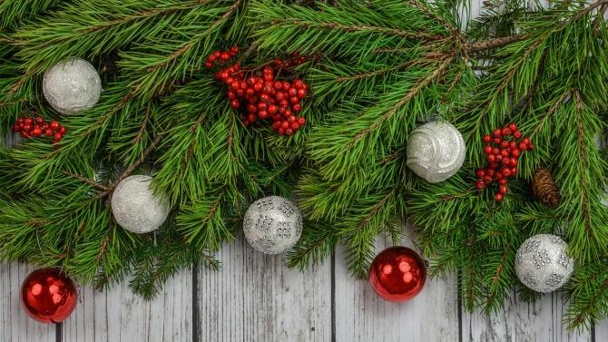 Коледна композиция краси Луковит