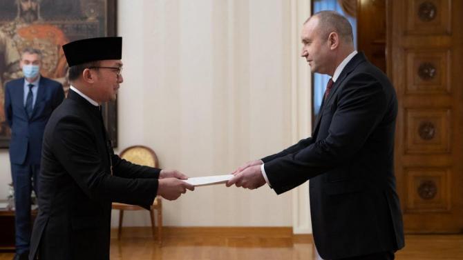 Новодошлият посланик на Република Индонезия връчи акредитивните си писма на президента Румен Радев