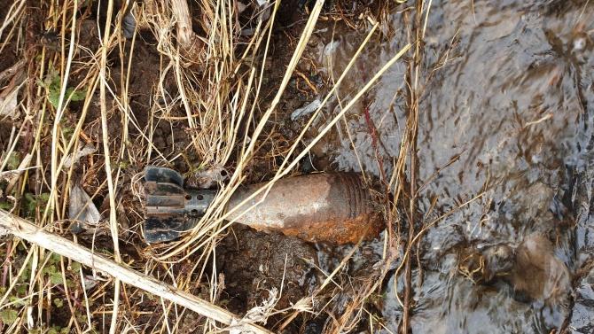 Военноморските сили обезвредиха снаряд за минохвъргачка в Бургас