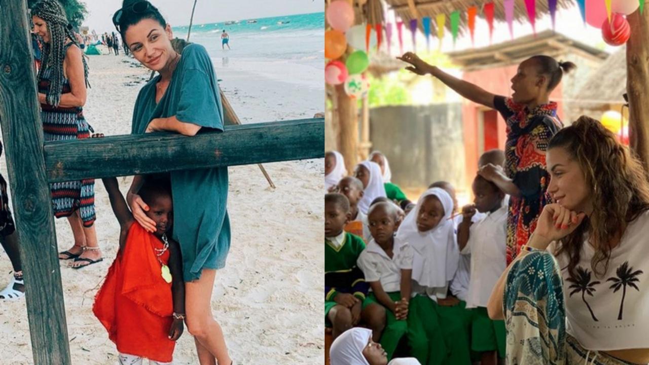 Диляна Попова помага на деца в Африка