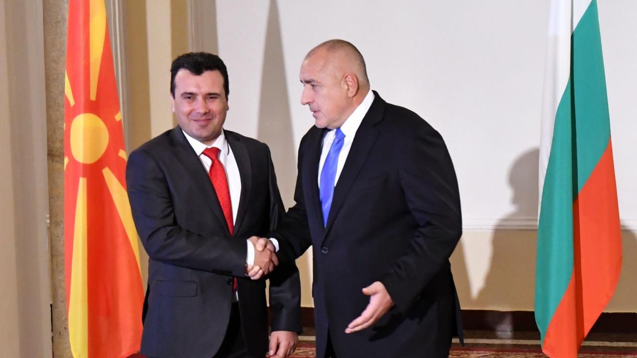 Бойко Борисов разговаря с премиера на С. Македония Зоран Заев