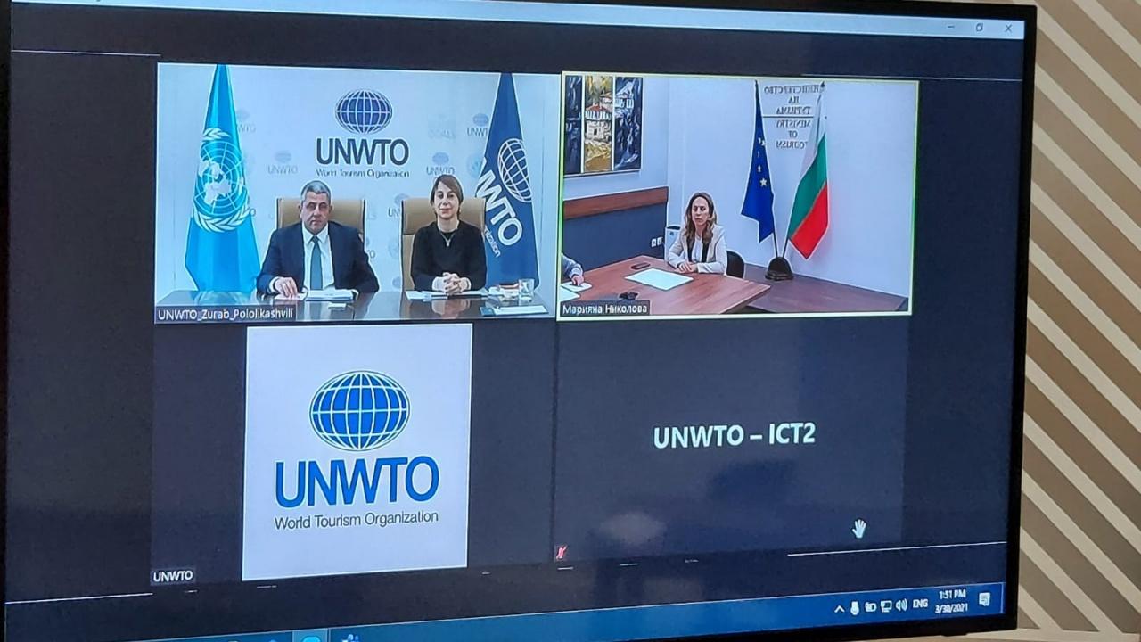 Марияна Николова разговаря с генералния секретар на Световната организация по туризъм към ООН