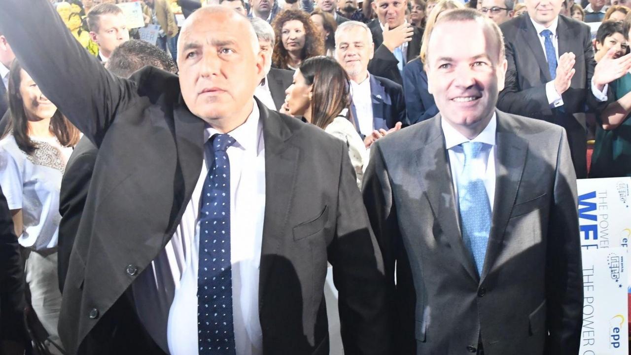 Манфред Вебер поздрави Бойко Борисов за победата на изборите
