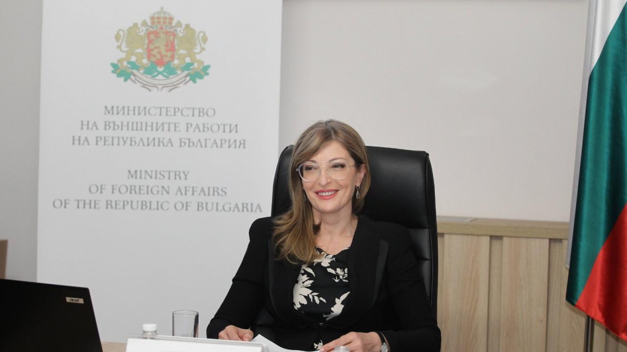 Екатерина Захариева: България подкрепя суверенитета на Чехия и Украйна