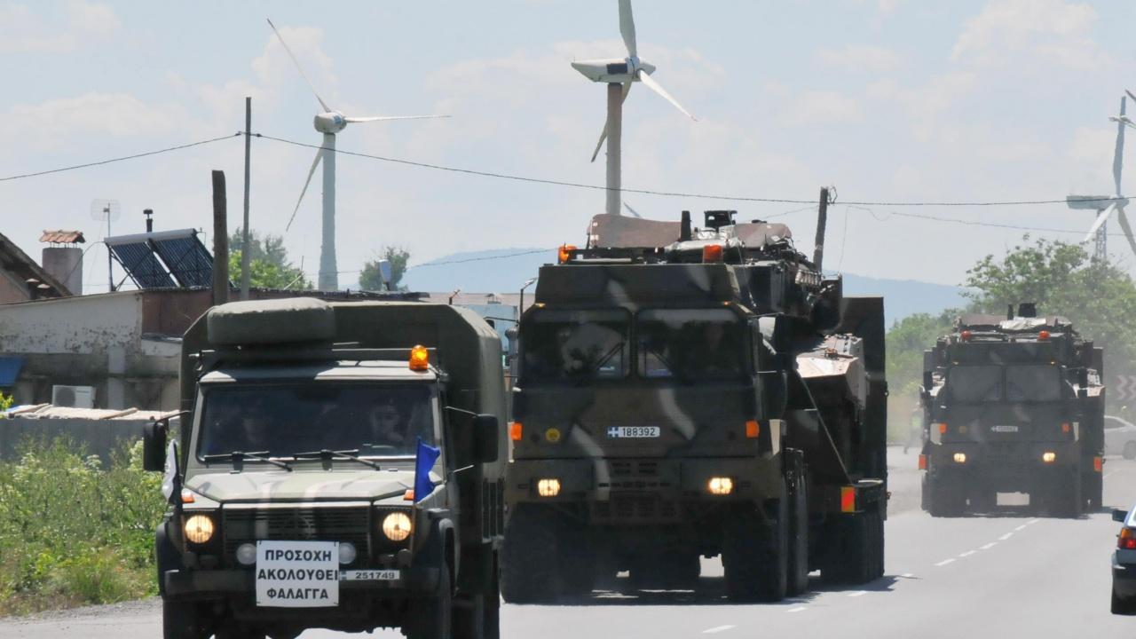 Военна техника на НАТО премина през България