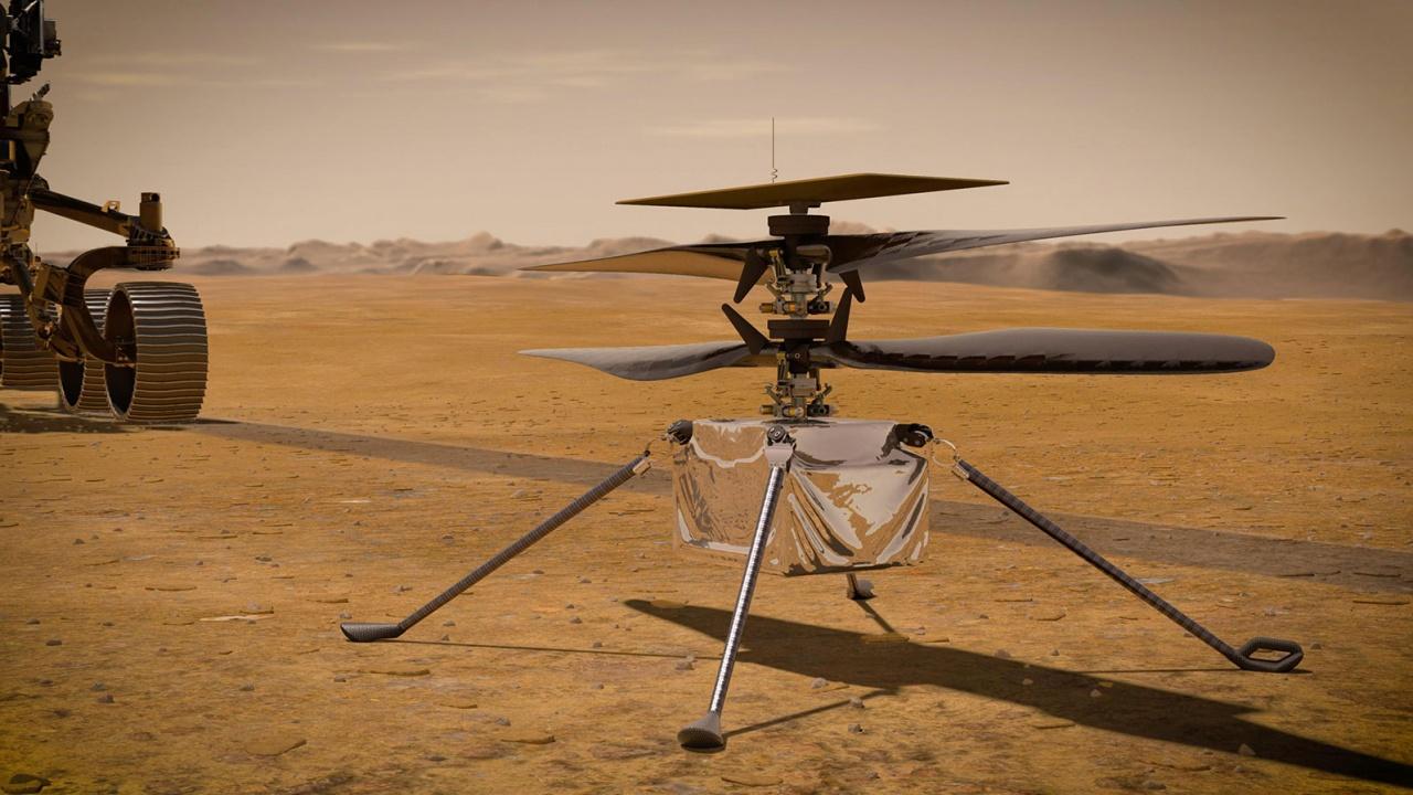"""Хеликоптерът """"Инджинюъти"""" имал технически проблеми при полет на Марс"""