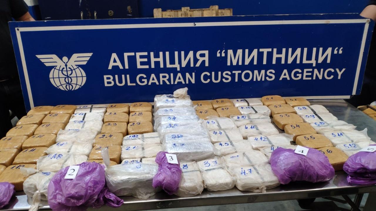 "Спипаха огромно количество хероин на ГКПП  ""Дунав мост-Русе"""