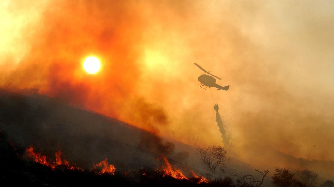 България разполага само с един хеликоптер за горски пожари