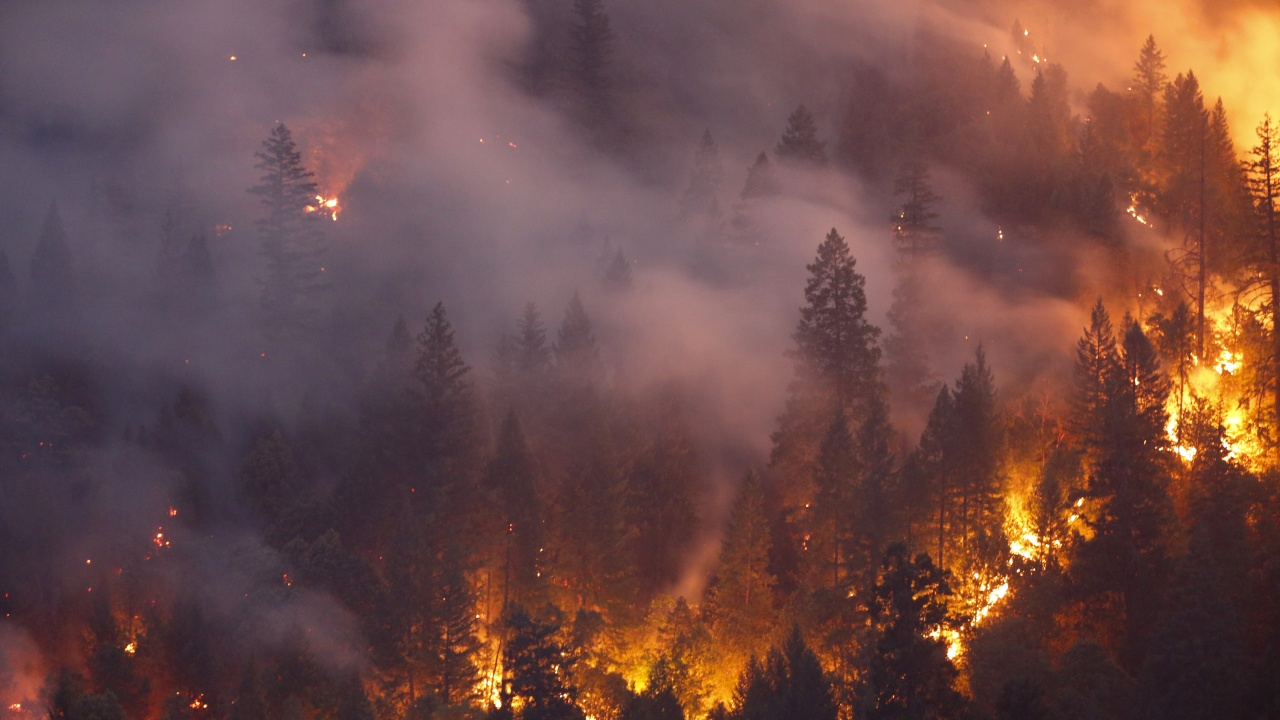 """Още заповеди за евакуация в Калифорния заради пожара """"Дикси"""""""