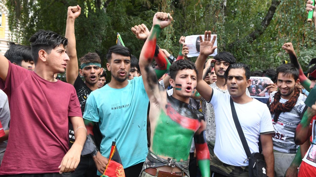 Шествие в София в подкрепа на афганистанския народ срещу талибаните
