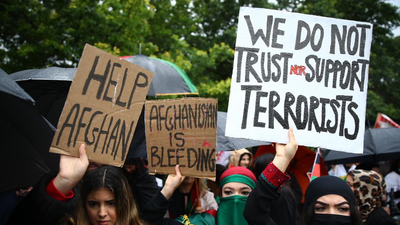 Шествия в подкрепа на афганистанския народ в Лондон и Глазгоу